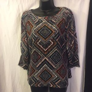 New Direction Blouse Pullover With 3/4 Sleeve